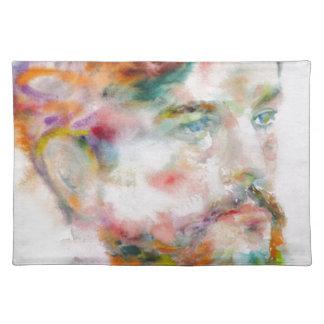 Claude Debussy - Aquarellporträt Tischset