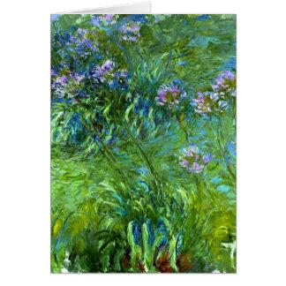 Claude Monet: Agapanthus Grußkarte
