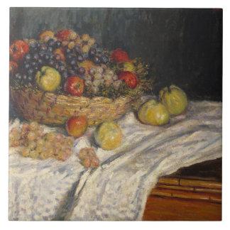 Claude Monet - Äpfel und Trauben Keramikfliese