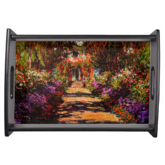 Claude Monet-Bahn in Monets Garten bei Giverny Tablett