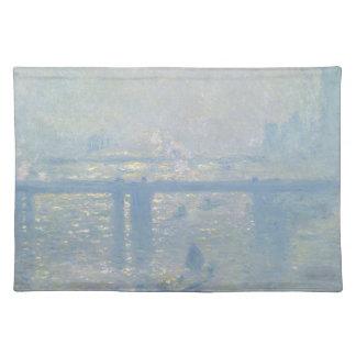 Claude Monet - Charing Querbrücke. Klassische Tischset