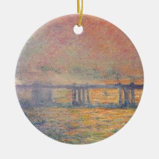 Claude Monet - Charing Querbrücken-Saint Louis Keramik Ornament