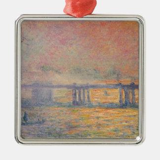 Claude Monet - Charing Querbrücken-Saint Louis Silbernes Ornament