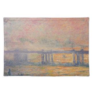 Claude Monet - Charing Querbrücken-Saint Louis Stofftischset