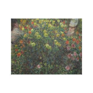 Claude Monet - Damen in den Blumen Leinwanddruck