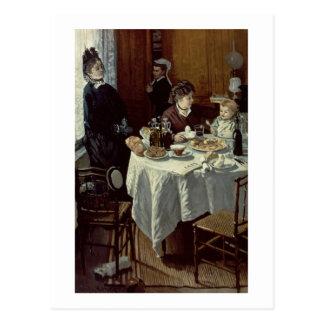 Claude Monet   das Frühstück Postkarte