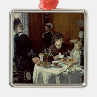Claude Monet | das Frühstück Silbernes Ornament