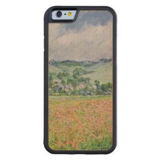 Claude Monet | das Mohnblumen-Feld nahe Giverny, Bumper iPhone 6 Hülle Ahorn