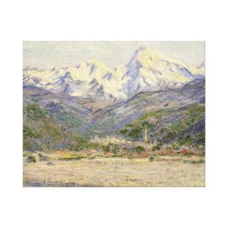 Claude Monet - das Tal des Nervia Leinwanddruck