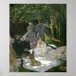 Claude Monet | Dejeuner sur l'Herbe, Chailly Poster
