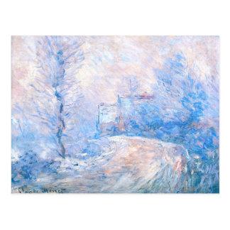 Claude Monet: Der Eingang zu Giverny unter Schnee Postkarte