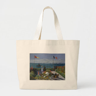 Claude Monet - der Garten an Sainte Adresse Kunst Jumbo Stoffbeutel