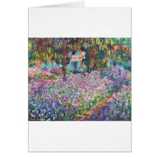 Claude Monet - der Garten des Künstlers bei Givern Karte