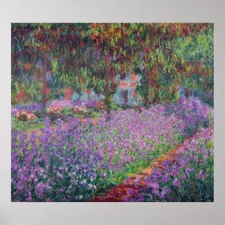 Claude Monet   der Garten des Künstlers bei Poster
