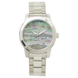Claude Monet der japanische Steg-Impressionist Armbanduhr
