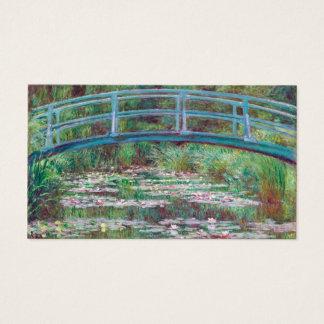 Claude Monet der japanische Steg Visitenkarte