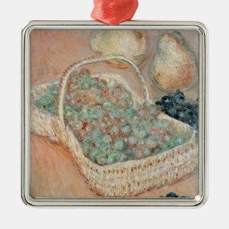 Claude Monet | der Korb der Trauben, 1884 Silbernes Ornament