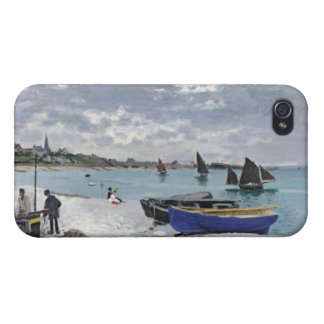 Claude Monet | der Strand bei Sainte-Adresse iPhone 4 Cover