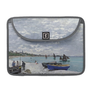 Claude Monet | der Strand bei Sainte-Adresse MacBook Pro Sleeve