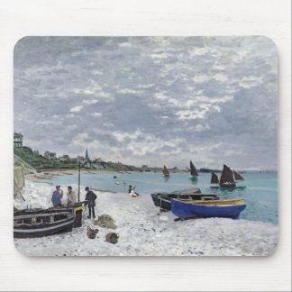 Claude Monet | der Strand bei Sainte-Adresse Mousepads