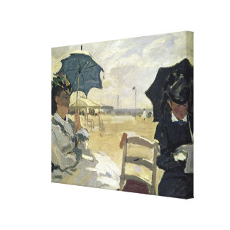 Claude Monet | der Strand bei Trouville, 1870 Leinwanddruck