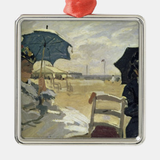 Claude Monet | der Strand bei Trouville, 1870 Silbernes Ornament