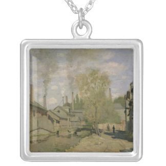 Claude Monet | der Strom von Robec in Rouen, 1872 Versilberte Kette