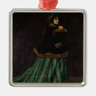 Claude Monet | die Frau im grünen Kleid, 1866 Silbernes Ornament
