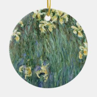 Claude Monet | die gelbe Iris Keramik Ornament
