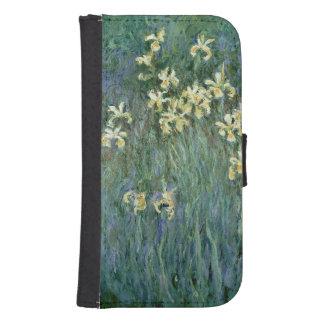 Claude Monet   die gelbe Iris Samsung S4 Geldbeutel Hülle