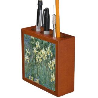 Claude Monet   die gelbe Iris Stifthalter
