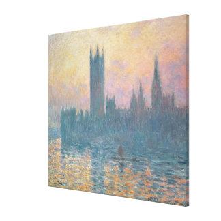 Claude Monet | die Häuser des Parlaments, Leinwanddruck