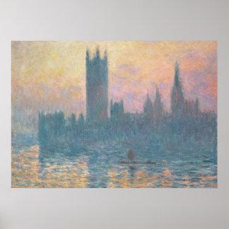 Claude Monet | die Häuser des Parlaments, Poster