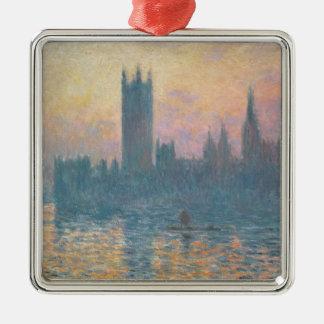Claude Monet | die Häuser des Parlaments, Silbernes Ornament