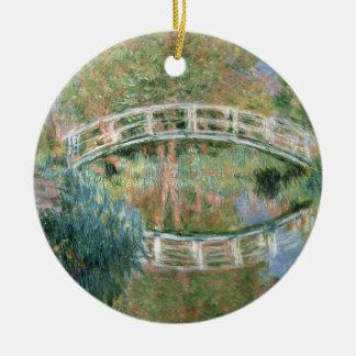Claude Monet | die japanische Brücke, Giverny Rundes Keramik Ornament