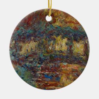 Claude Monet | die japanische Brücke Rundes Keramik Ornament