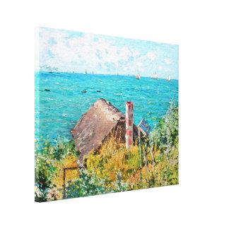 Claude Monet die Kabine an Heiliges-Adresse Leinwanddruck