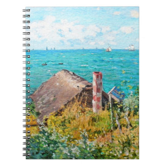 Claude Monet die Kabine an Heiliges-Adresse Notizblock