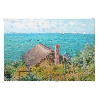 Claude Monet die Kabine an Heiliges-Adresse Stofftischset