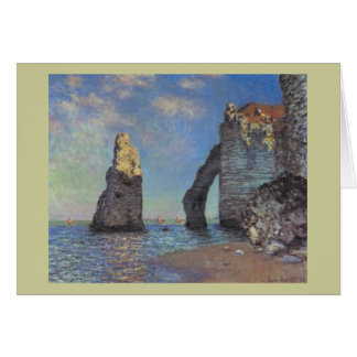 Claude Monet - die Klippen bei Etretat 1885 Karte