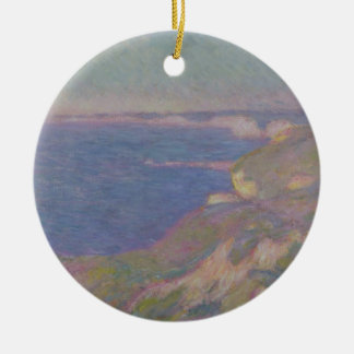 Claude Monet | die Klippen nähern sich Dieppe Keramik Ornament