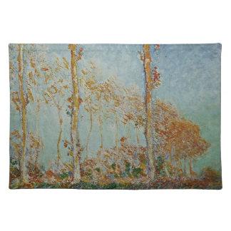 Claude Monet - die Pappel-Grafik Stofftischset