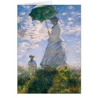 Claude Monet - die Promenade Karte