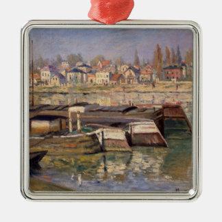 Claude Monet | die Seine bei Asnieres, 1873 Silbernes Ornament