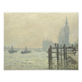 Claude Monet - die Themse in Westminster Fotodruck