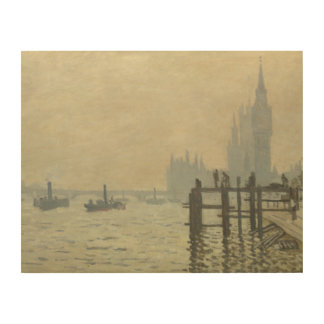 Claude Monet - die Themse in Westminster Holzleinwand