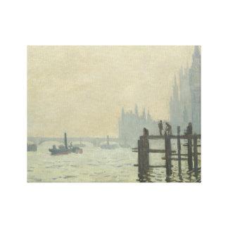 Claude Monet - die Themse in Westminster Leinwanddruck