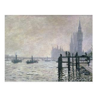 Claude Monet | die Themse unter Westminster Postkarte