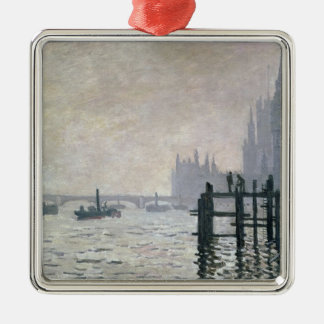 Claude Monet | die Themse unter Westminster Silbernes Ornament