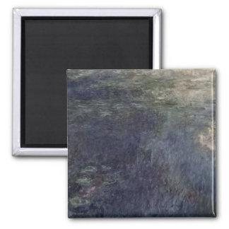 Claude Monet   die Wasserlilien die Wolken 1914-18 Quadratischer Magnet